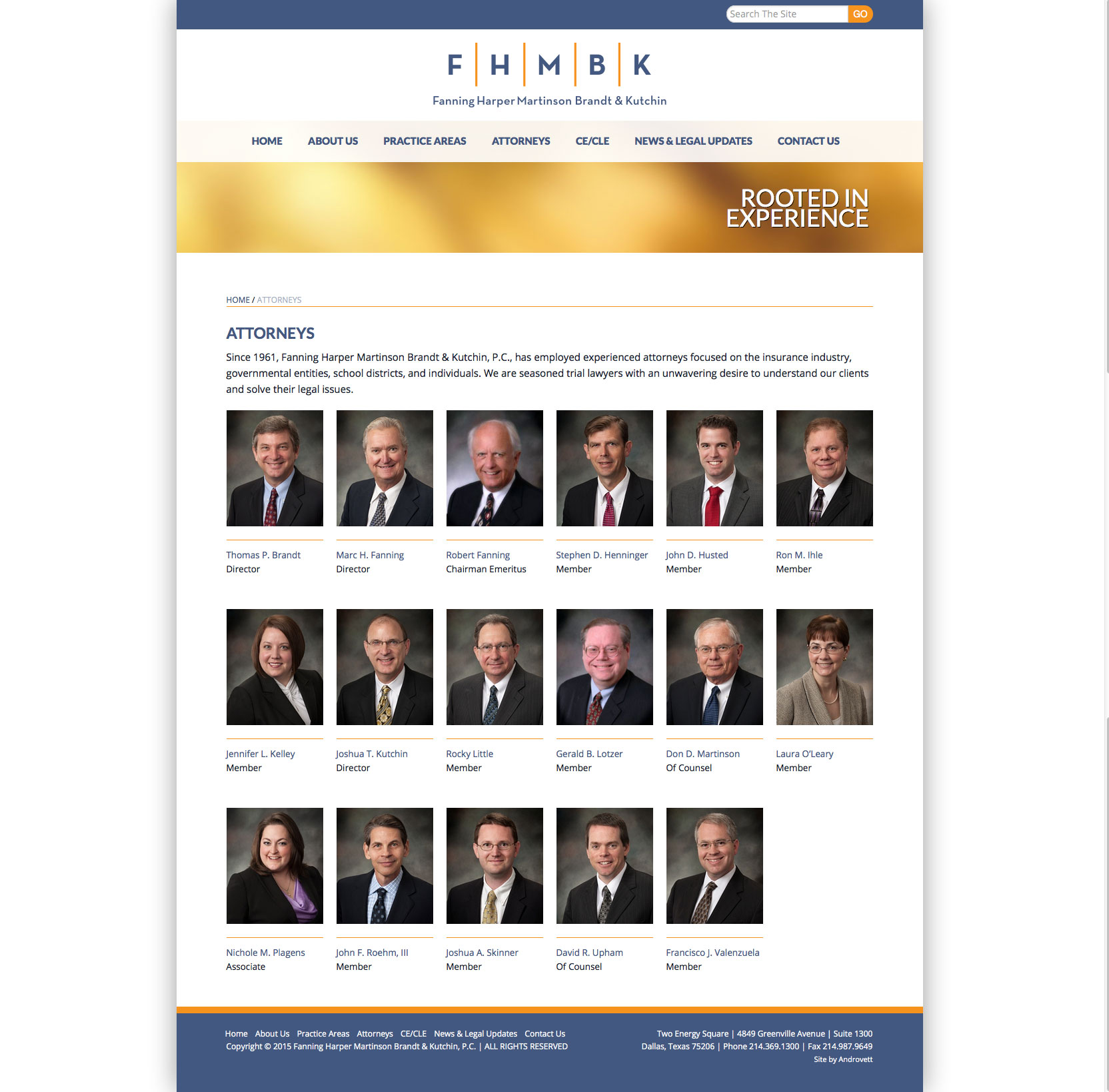 Attorneys Landing Page