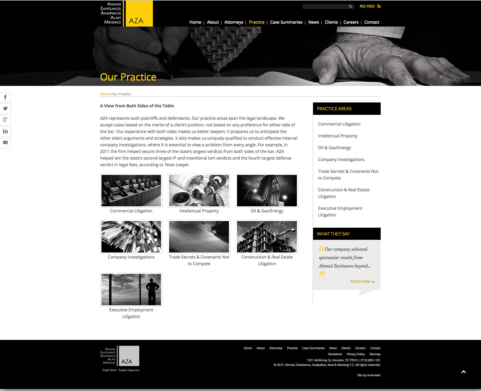 Practice Areas Landing Page